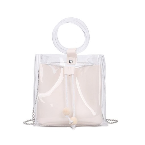 Ericdress Chain Plain PVC Square Hand Bags