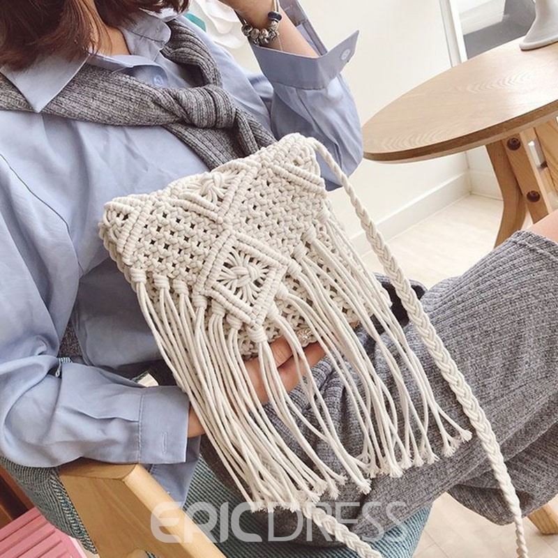 Ericdress Knitted Bohemian Crossbody Bags