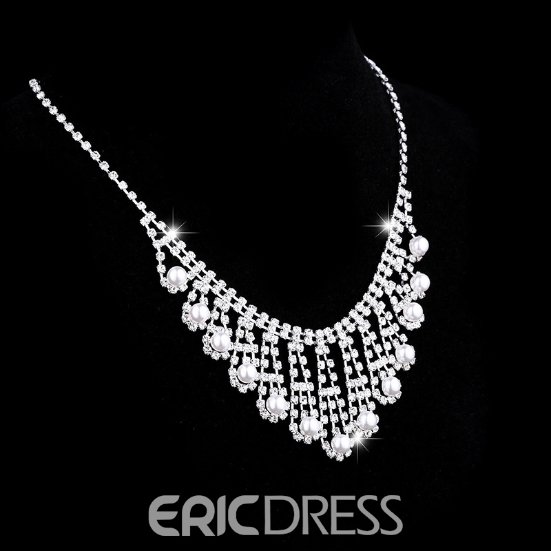 Floral Necklace Korean Jewelry Sets (Wedding)