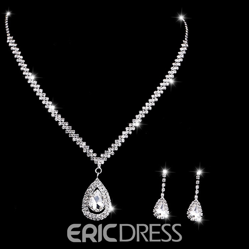 European Diamante Floral Jewelry Sets (Wedding)