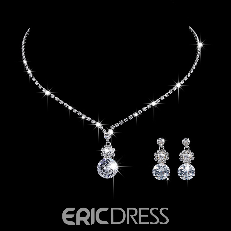 European Earrings Gemmed Jewelry Sets (Wedding)