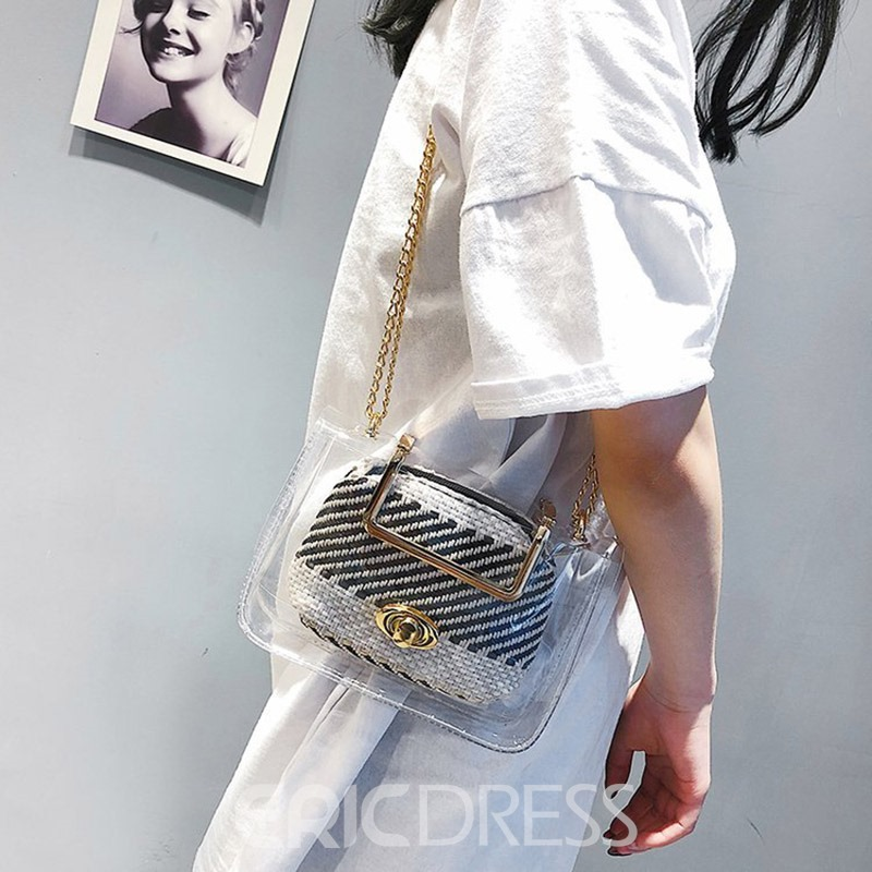 Ericdress ABS Plastic Patchwork Square Crossbody Bags