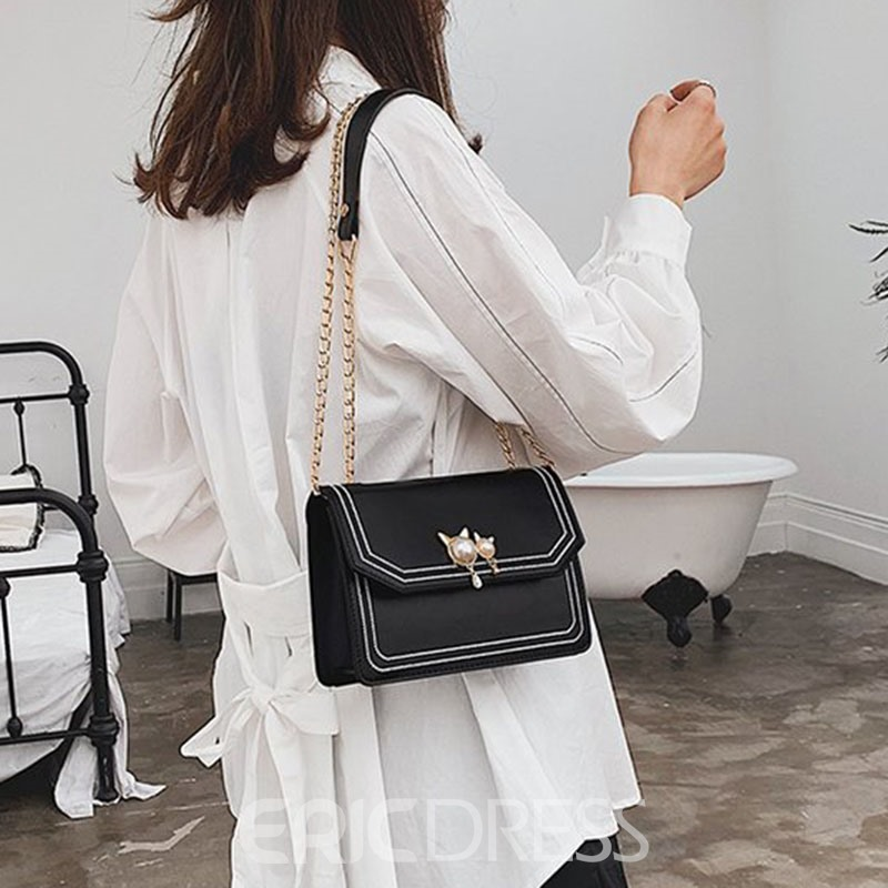 Ericdress Korean Thread PU Crossbody Bags