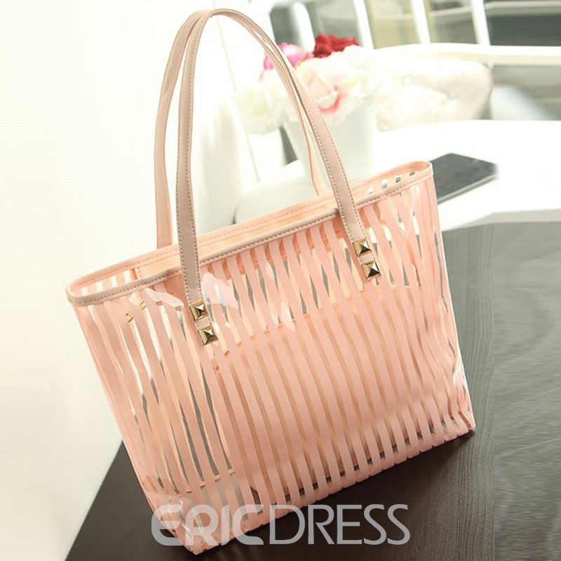 Ericdress Stripe Thread PU Square Shoulder Bags