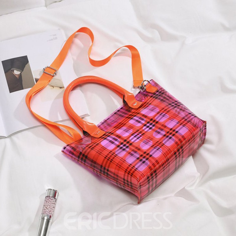 Ericdress Plaid Print Barrel-Shaped Crossbody Bags