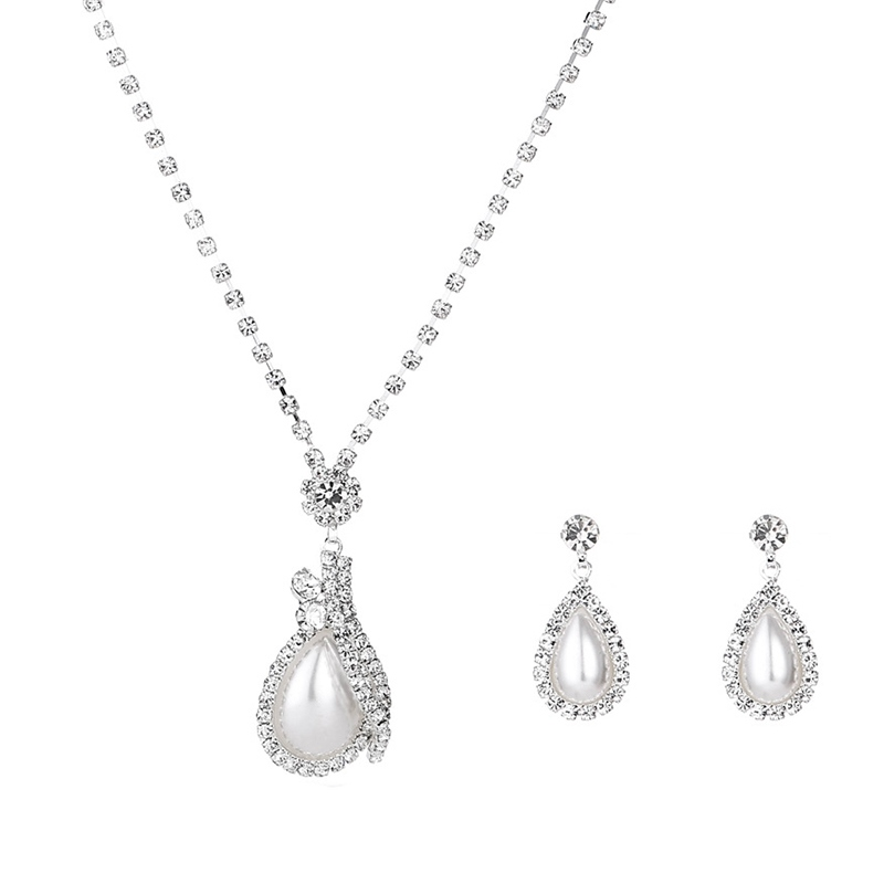 E-Plating Water Drop European Jewelry Sets (Wedding)