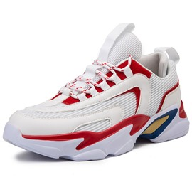 Ericdress Mesh Color Block Lace-Up Round Toe Men's Athletic Shoes