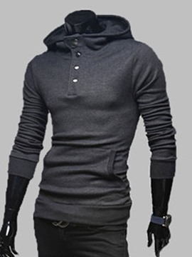 Ericdress Pocket Pullover Men's Plain Hoodies
