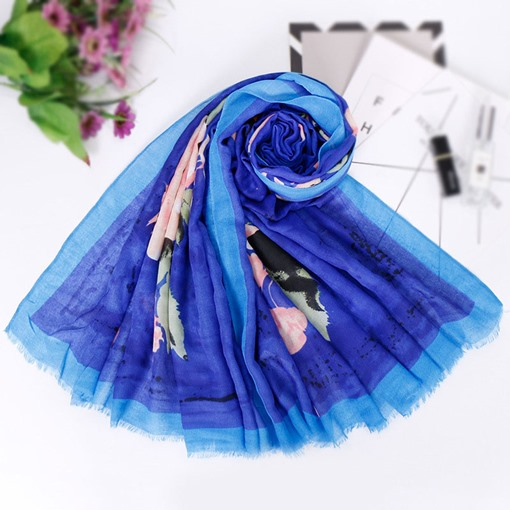 Ericdress Cotton Fashion Floral Scarf