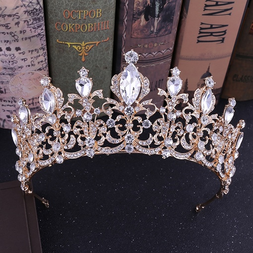 Crown Diamante European Hair Accessories (Wedding)