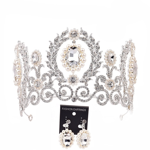 Diamante Crown Tiara Hair Accessories