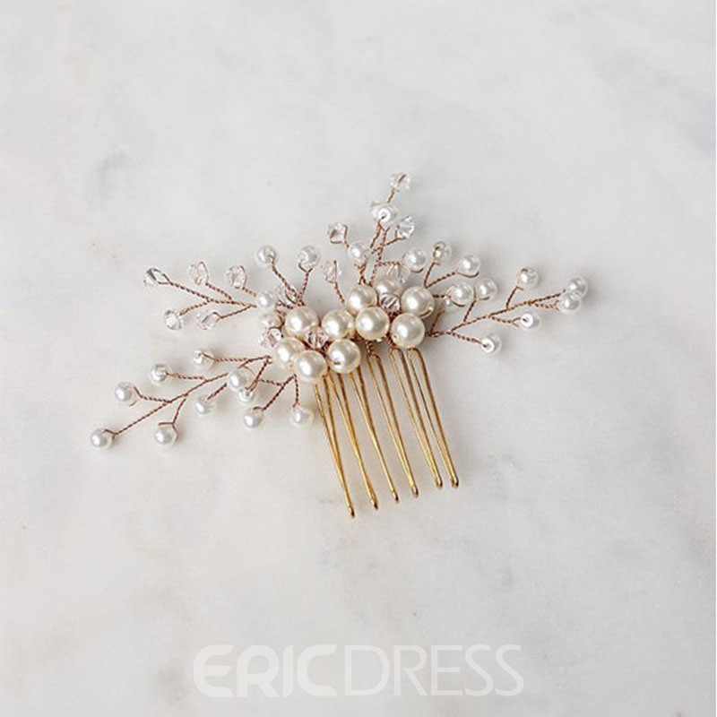 Handmade Head Flower Pearls Hair Accessories (Wedding)