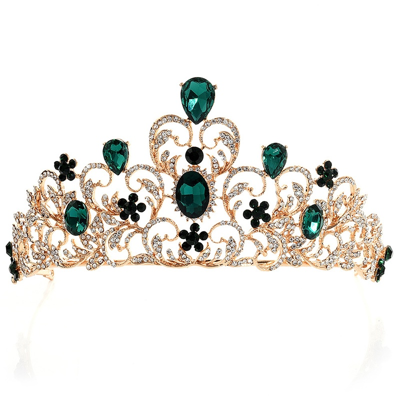 Tiara Crown Diamante Hair Accessories