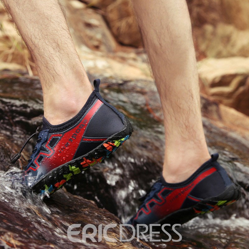 Ericdress Spandex Lace-Up Men's Beach Water Shoes