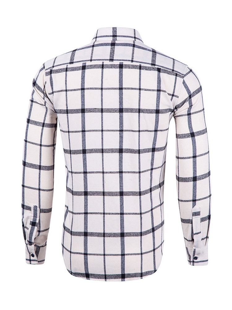 Ericdress Casual Lapel Plaid Spring Mens Single-Breasted Shirt