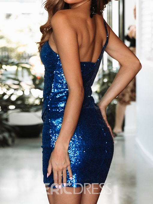 Ericdress Above Knee Sequins Sleeveless Sexy Bodycon Dress