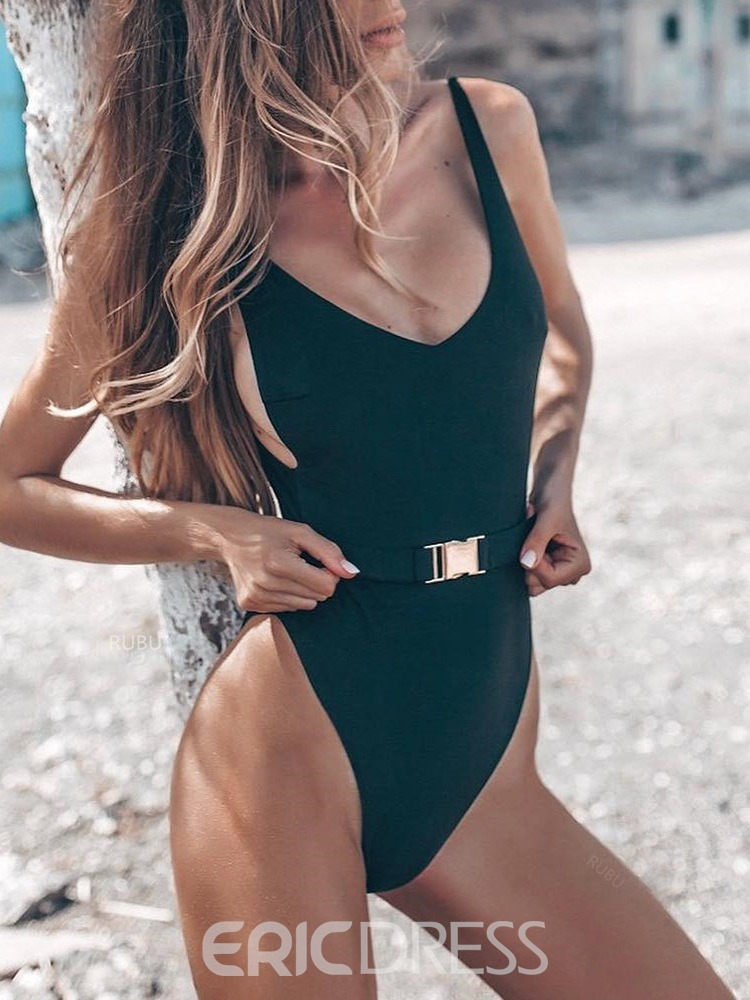 Ericdress One Piece Beach Look Plain Swimwear