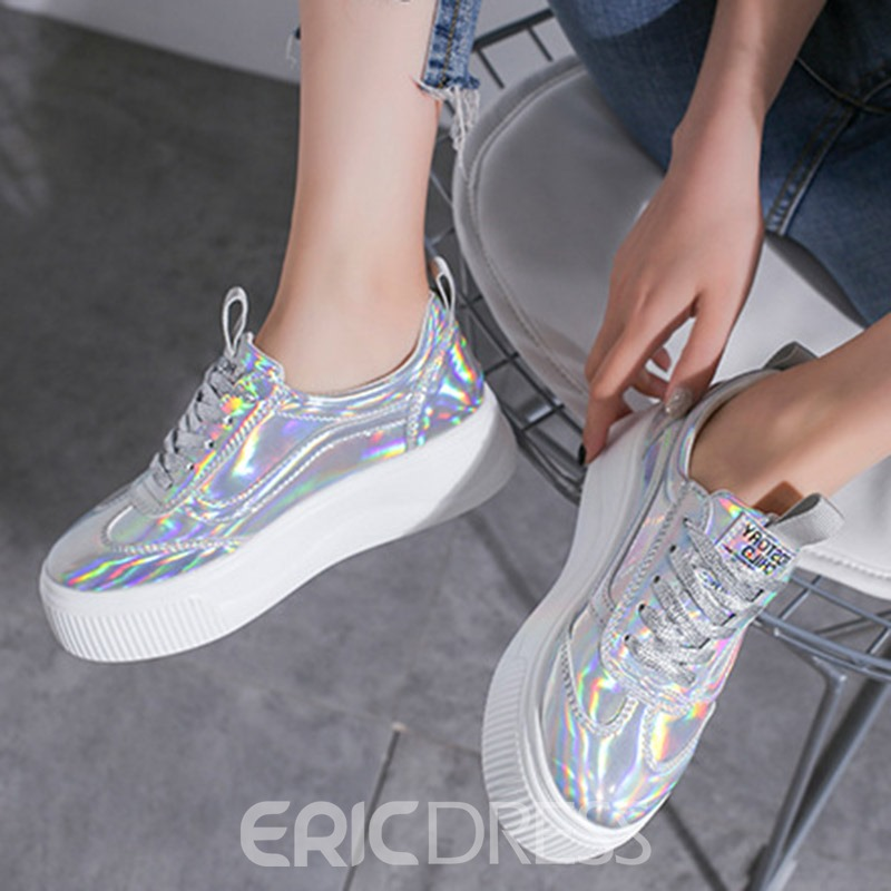 Ericdress PU Round Toe Lace-Up Women's Sneakers