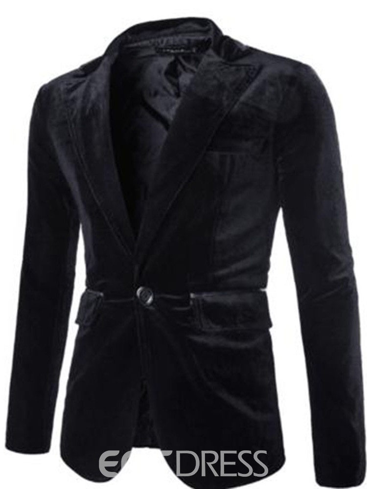 ericdress Revers Slim One Button Fit Herren Blazer