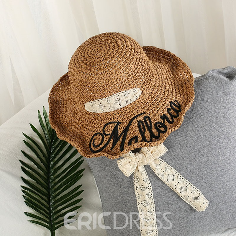 Ericdress New Style Straw Spring Letter Hat
