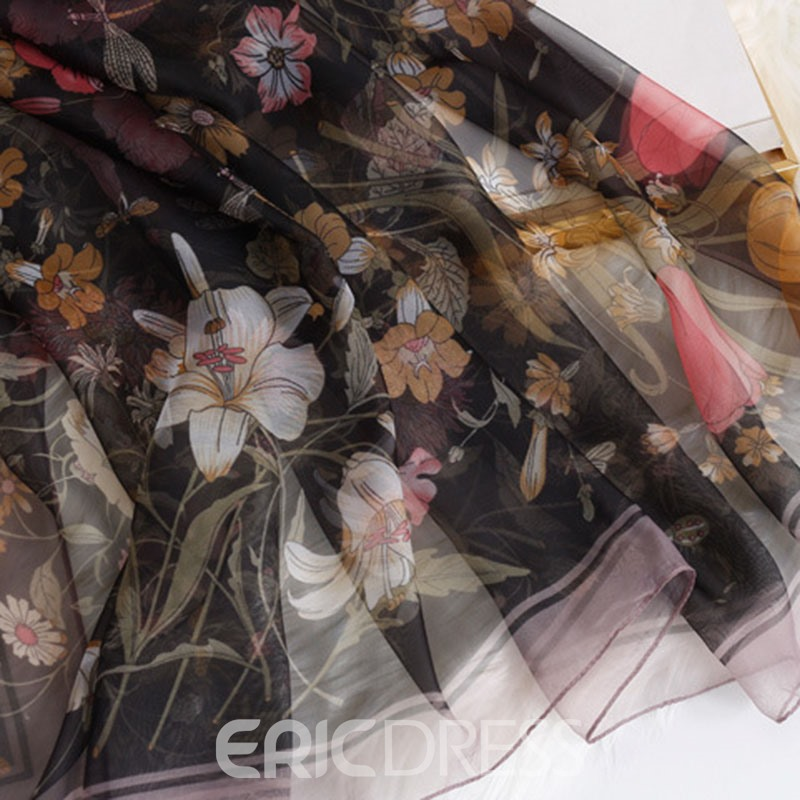 Ericdress Print Casual Floral Scarf
