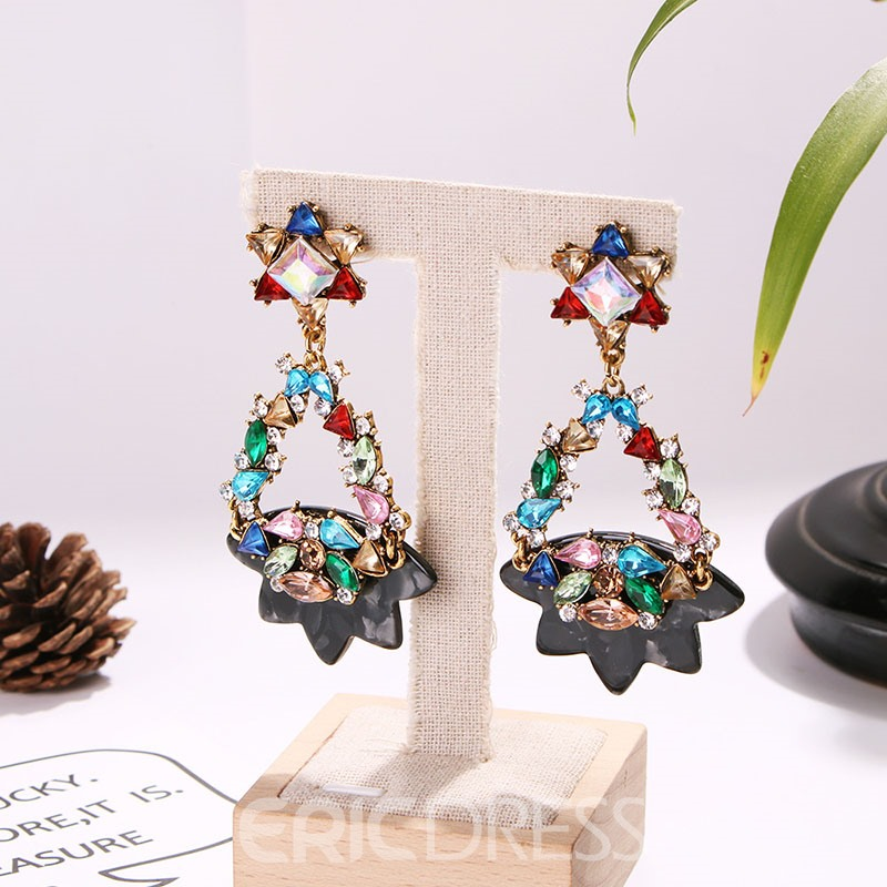 Ericdress Color Block Prom Star Earrings