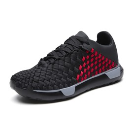 Ericdress Mesh Lace-Up Round Toe Men's Running Sneakers