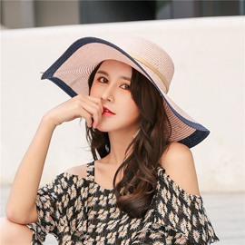 2aeac063658 Ericdress Patchwork Straw Summer Hat