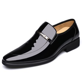Ericdress Plain Sequin Round Toe Men's Dress Shoes