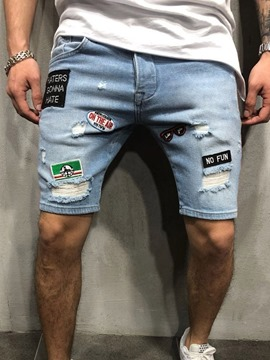 Ericdress Patchwork Straight Mens Casual Zipper Shorts