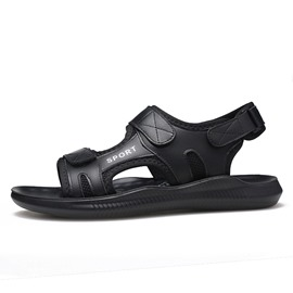Ericdress PU Velcro Letter Open Toe Men's Sandals