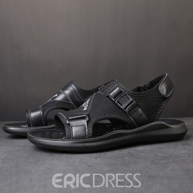 Ericdress Patchwork Velcro Open Toe Men's Sandals