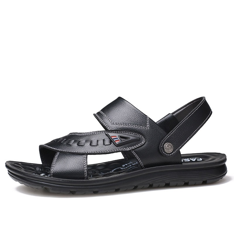 Ericdress Plain Slip-On Open Toe Men's Casual Sandals