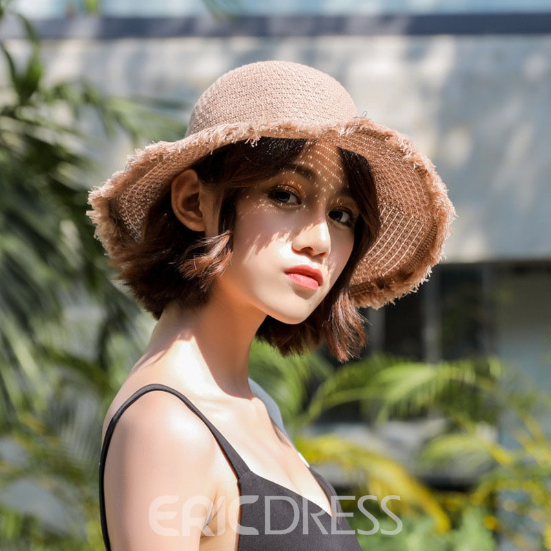 Ericdress Cotton Bucket Hat