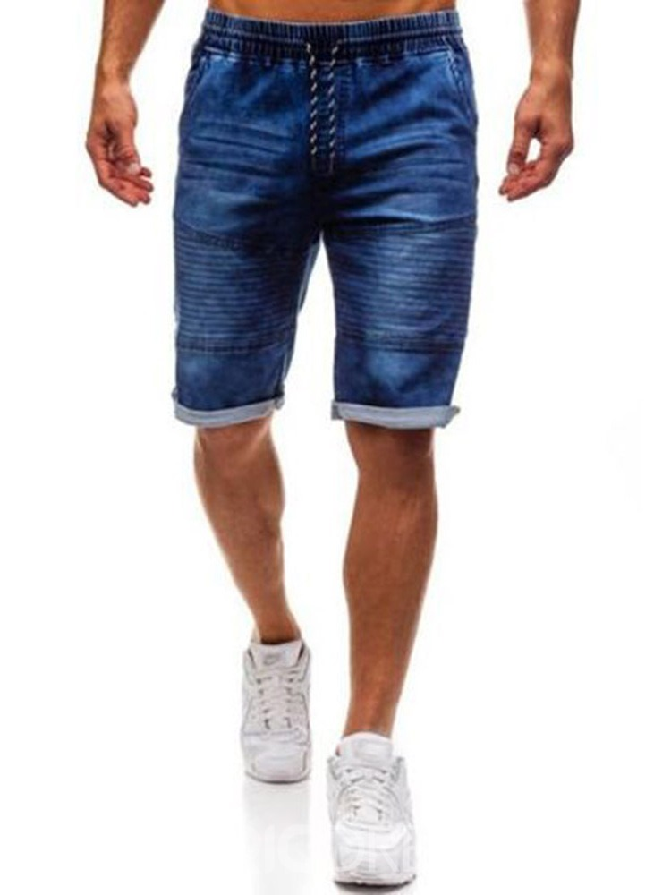 Ericdress Skinny Zipper Mens Mid Waist Shorts