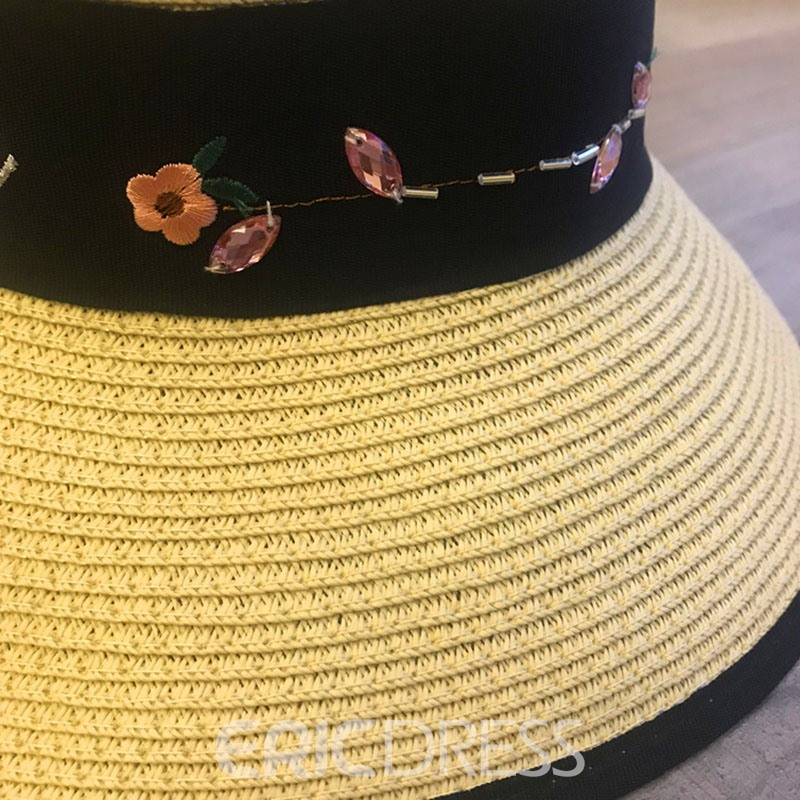 Ericdress Straw Letter Summer Hat