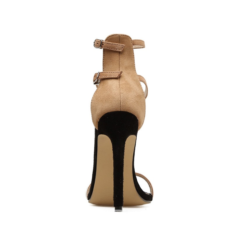 Ericdress Plain Heel Covering Buckle Stiletto Heel Women's Sandals