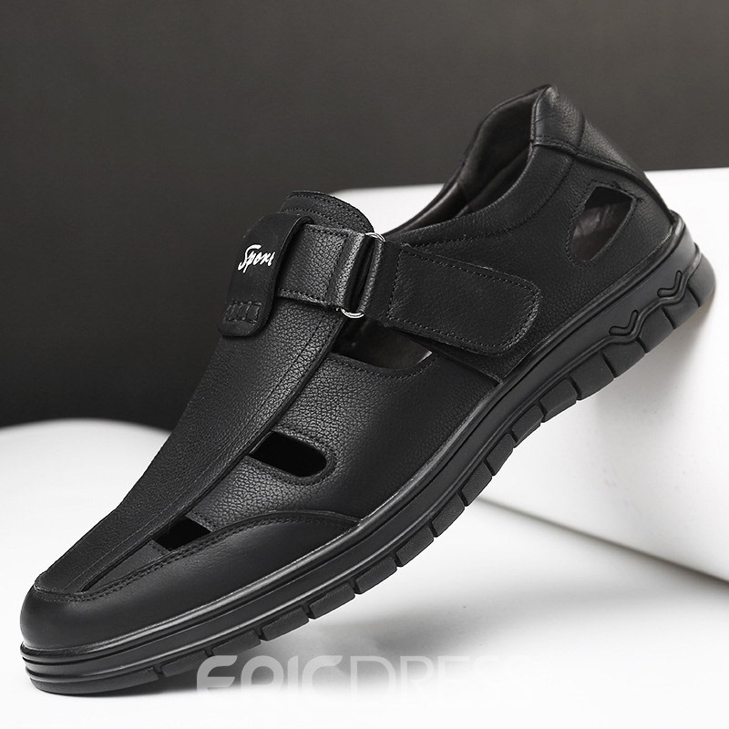 Ericdress Velcro Hollow Closed Toe Men's Casual Shoes