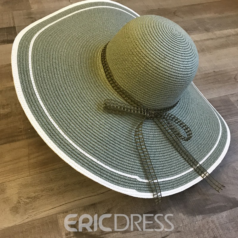 Ericdress Straw Fall Color Block Hat