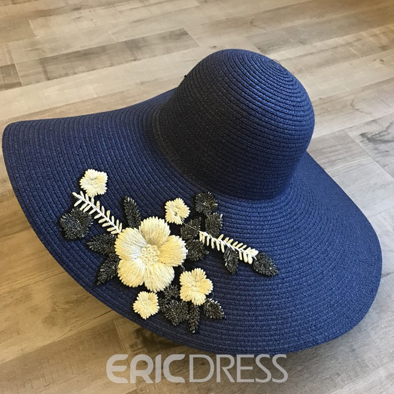 Ericdress Embroidery Floral Sun Hat