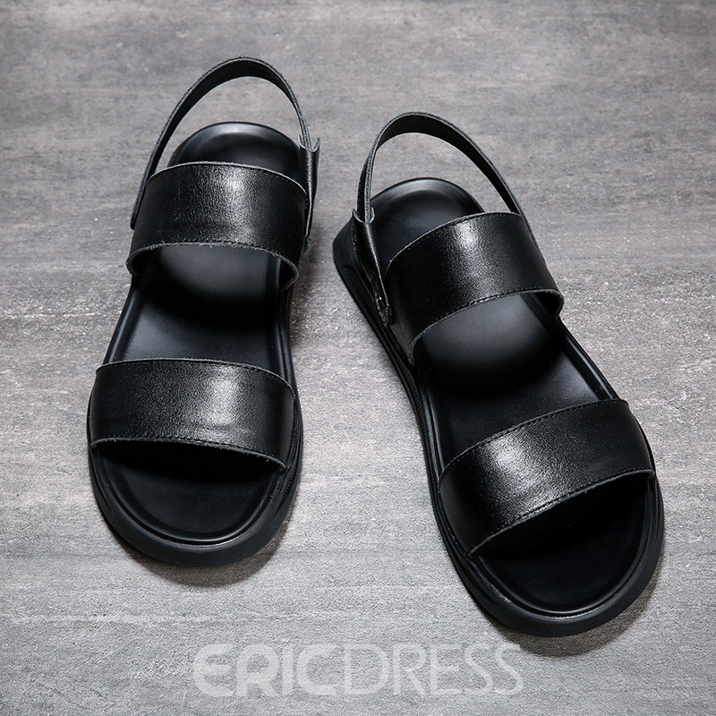 Ericdress Plain Slip-On Open Toe Men's Sandals
