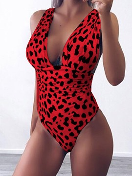 Ericdress Leopard Western Pleated Swimwear