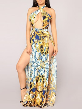 Ericdress Floor-Length Print Dress Beach Dresses