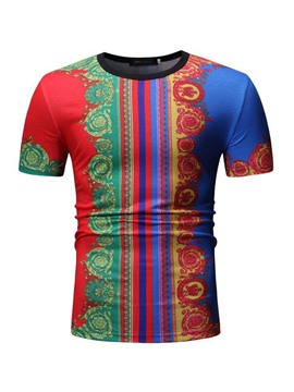 Ericdress African Fashion Dashiki Print Mens Slim T-shirt