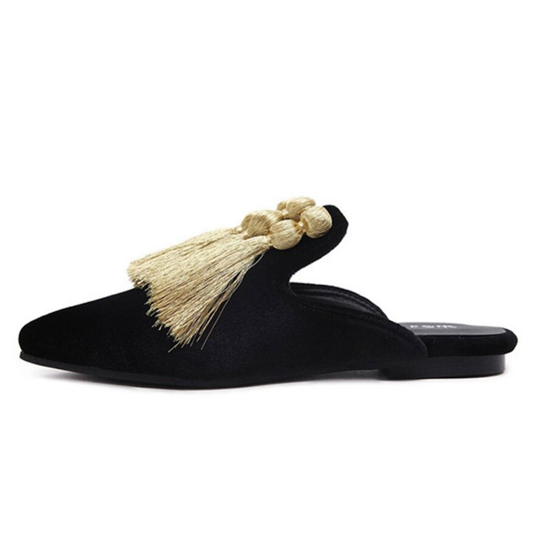 Ericdress Fringe Closed Toe Women's Mules Shoes