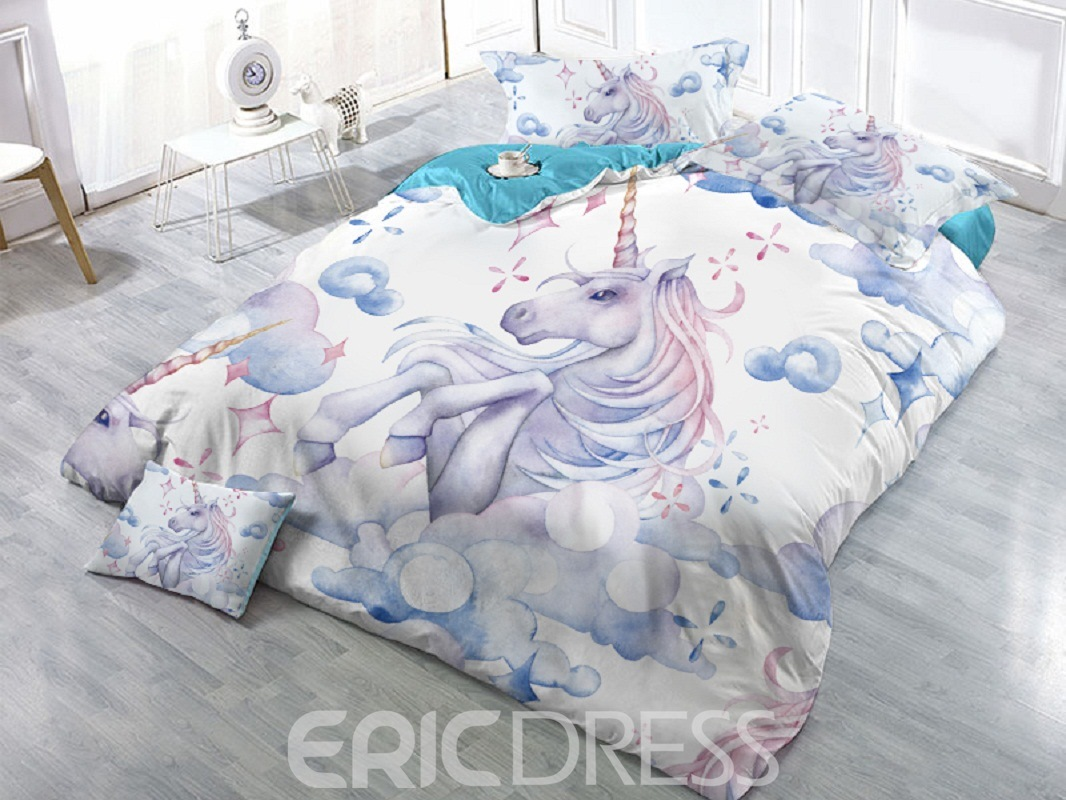Animal Tencel Cotton Duvet Cover Set Four-Piece Set Reactive Printing