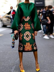 Ericdress African Fashion Floral Print A-Line Shirt And Skirt Two Piece Sets фото