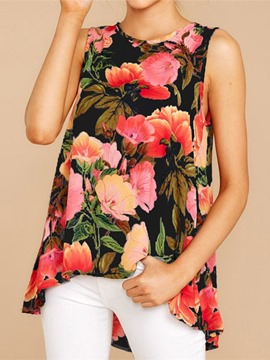 Ericdress Summer Floral Polyester Vintage Tank Top