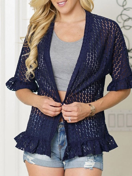 Ericdress Straight Hollow Half Sleeve Summer Jacket