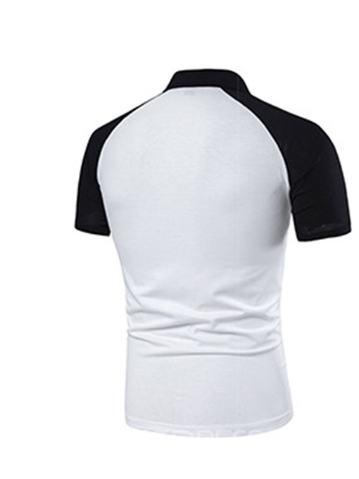 Ericdress Patchwork Casual Mens Summer Polo Shirt